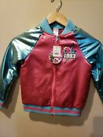 LOL Surprise Go Team Glitter Bomber Jacket Pink Girls Size S (6-6X) 1993 NEW
