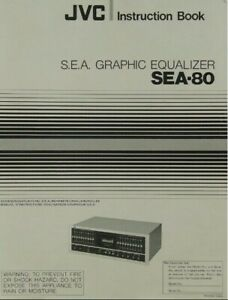 JVC SEA-80 Stereo Graphic Equalizer - Operating Instruction EQ - USER MANUAL