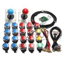 Arcade LED MAME 2 Player USB Bundle Kit w/ 2 Joysticks & 20 Push Buttons