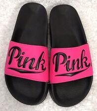 Victoria's Secret Hot Pink NATION Slides Flip Flops Sandals - Size Large