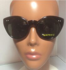 New Spitfire Black Cat Eye Weekend Sunglasses Black With Pouch