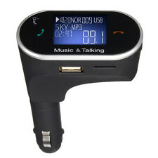 12-24V Cigar Lighter Car Charger Wireless Bluetooth Fm Transmitter Mp3 Player Us