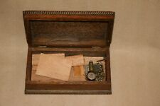More details for small vintage oak cased thorens music box for spares or repair