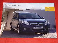 Opel Signum base Edition sport Cosmo folleto de 2005