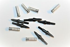 8 arrow points and 8 inserts 75gr (black)