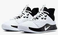 Nike PG 3 TB Basketball Men's Shoes White Black (CN9512-108) Men's Size 5