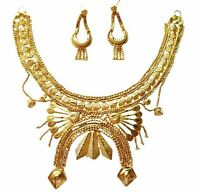 Indian Traditional Gold Plated Designer Ethnic  Necklace Jewelry Set BJN0051