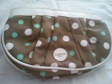 Carita paris makeup bag brown polka dot