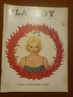 Playboy December 1956 3rd Anniversary Issue VG