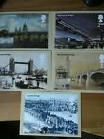 2002 BRIDGES OF LONDON PHQ245 SET OF 6 CARDS FDI FRONT PICTORIAL H/S