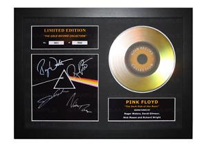 Pink Floyd Signed Gold Disc Album Ltd Edition Framed Picture Memorabilia
