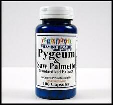 PYGEUM BARK 100mg SAW PALMETTO 320mg Standardized Extract PROSTATE 100 Capsules