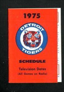 Detroit Tigers--1975 Pocket Schedule--Tiger Yearbook