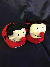 Ladybug Toddler Slippers Size 5/6