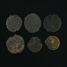 Ancient Coins Roman Artifacts Figural Mixed Lot of 6 B6335