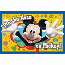 """MICKEY MOUSE""     Pin The Nose On Mickey - Contains 1 Poster and 8 Stickers!"