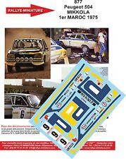 Decalcomanie 1/43 Rif. 0877 Peugeot 504 Mikkola Rally Del Marocco 1975 Rally WRC