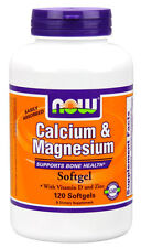 NOW Calcium & Magnesium 120 Softgels Vitamin D3 & Zinc FRESH 07/21EXP