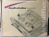 New Old School Audiobahn A235HCT HIGH CURRENT 2 Channel amplifier,Rare,cheater