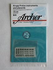 Archer 1/35 Krupp Protze Instruments, Placards and Details (for Tamiya) AR35292