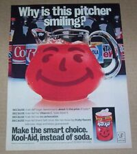 1982 print ad page - KOOL-AID drink mix Cute smiling Pitcher vintage advertising