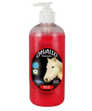 Horse Shampoo Cavallo Sulfate Free 500ml Red(Bark Opium)