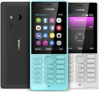 BRAND New  Nokia 216 2.4 Inch DUAL SIM Mobile Phone Black UNLOCKED ALL NETWORKS
