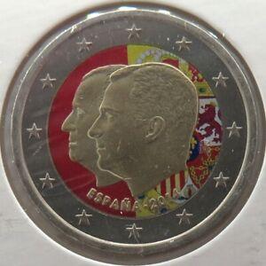 ES20014.4 - ESPAGNE - 2 euros commémo. Colorisée Succession au Trône - 2014