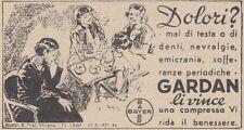 Y3743 Compresse GARDEN - Bayer - Pubblicità d'epoca - 1937 vintage advertising