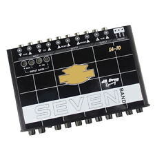 12V 200W IA-10 90db 7 Band Car Sound Audio Equalizer EQ w/Front Rear+ Sub Output