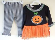 NWT Bonnie Jean Jack O'Lantern Halloween Outfit Girl's Size 2T