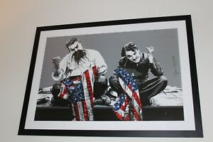 """Mr Brainwash Sighed Lithographic Poster Print """"Recovery Plan"""" 2010"""