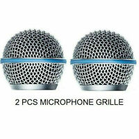 2× Microphone Grill Mic Grille Ball Head Mesh for Shure Beta58A SM58 pgx24 slx24