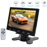 Ultrathin 7 inch TFT LCD  Touch Button HD CCTV PC Monitor Screen AV/RCA/VGA/HDMI