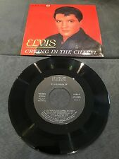Disque 45 tours Elvis Presley - Crying In The Chapel - PB 49659 (état neuf - nm)