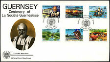 Guernsey 1982 La Societe Guernsiaise Centenary FDC First Day Cover #C41889