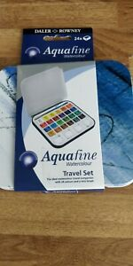 Daler Rowney Aquafine Watercolour Box for Travelling, Pack of 24 1