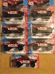 Hot Wheels 2020 #215 TARGET RED EDITION SANDBLASTER FORD RAPTOR BORLA Lot Of 7