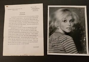 """Signed Autographed Ann- Margret Photograph With """"Ann- Margret A Biography"""" Movie"""