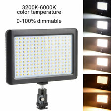 Pad192 LED Video Light Panel 3200-6000K Dimmable for Digital Canon Nikon Camera
