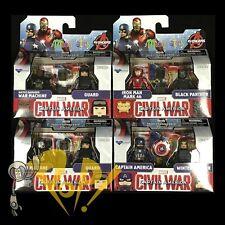 Marvel Minimates Ser 66 CIVIL WAR 4x2-pack Cap PANTHER Iron Man VARIANT & More!
