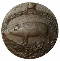 Ca. 1795 Great Britain Middlesex Spence's Pig Halfpenny Conder Token D&H-842