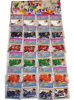 25 Bag Water Crystal Beads Aqua Gems Bio Gel Balls Crystal Soil Wedding Vase Dec