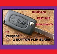 2 bouton peugeot 406 407 307 flip uncut key blade new