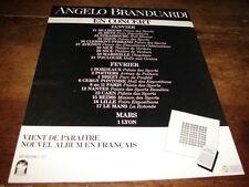 ANGELO BRANDUARDI - PUBLICITE DATES CONCERT !!!!!!!!!!!