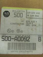 ALLEN-BRADLEY 500 A0D92 AC Contactor 2 Poles Series B