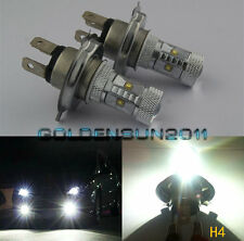 2x H4 HB2 9003 CREE LED Bulb 30W White 6000K LENS Bulb lamp DRL Headlight Toyota