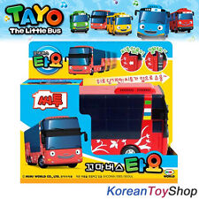 The Little Bus Tayo CITO Model Diecast Plastic Car Double Decker Pull Back Gear