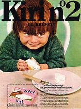 PUBLICITE ADVERTISING  1969    KIRI  fromge  à tartiner N° 2 au jambon