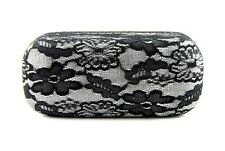 New Lace Covered Protective Hard Case Cover Box For Sunglasses & Eyeglasses.